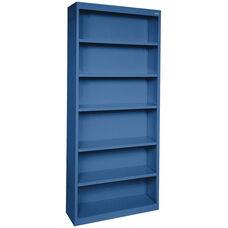 Elite Series 34.50'' W x 12.63'' D x 82'' H Six Shelf Welded Bookcase - Blue