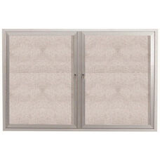 2 Door Outdoor Enclosed Bulletin Board with Aluminum Frame - 36''H x 48''W