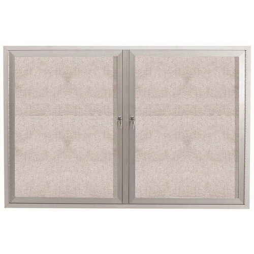 Our 2 Door Outdoor Enclosed Bulletin Board with Aluminum Frame - 36