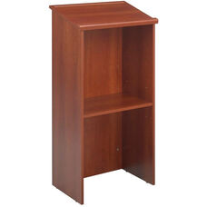 46'' H Stand Up Lectern with 23'' W x 15.75'' D Reading Surface - Cherry