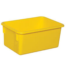 Solid Yellow Plastic Cubby Trays - Assembled - 8''W x 12''D x 5''H