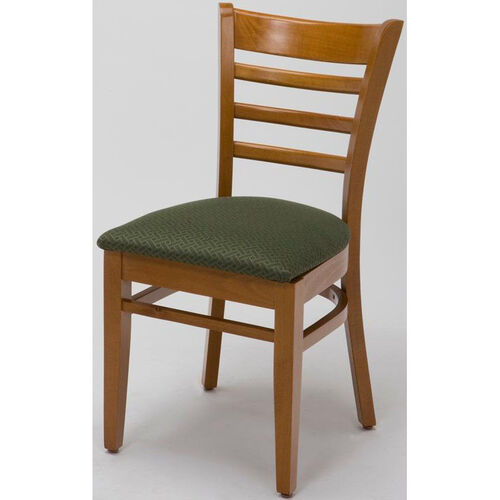 Our 4500 Series Wood Frame Armless Cafe Chair with Contoured Ladder Back and Upholstered Seat is on sale now.