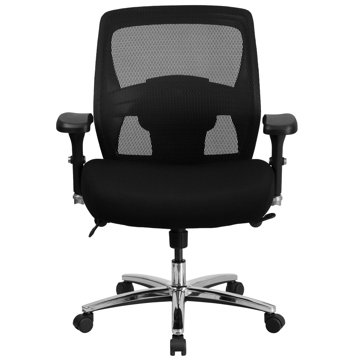 Sensational Hercules Series 24 7 Intensive Use Big Tall 500 Lb Rated Black Mesh Executive Ergonomic Office Chair With Ratchet Back Pdpeps Interior Chair Design Pdpepsorg