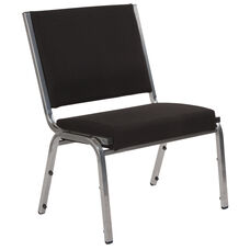 HERCULES Series 1500 lb. Rated Black Antimicrobial Fabric Bariatric Medical Reception Chair