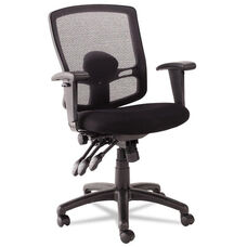 Alera® Etros Series Petite Mid-Back Multifunction Mesh Chair - Black