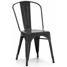 Dreux Stackable Matte Black Steel Side Chair - Set of 4