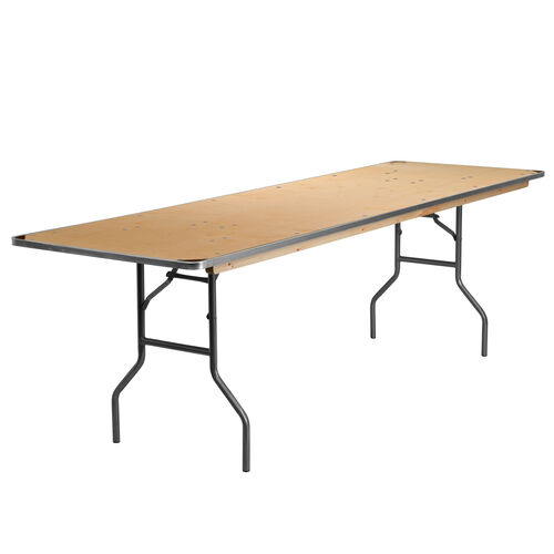 Our 8-Foot Rectangular HEAVY DUTY Birchwood Folding Banquet Table with METAL Edges and Protective Corner Guards is on sale now.