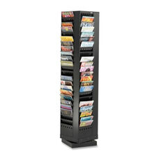 Safco Rotary Magazine Rack - 92 Pockets - 14