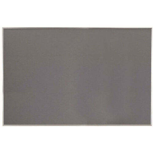 Our Designer Fabric Bulletin Board with Clear Satin Anodized Aluminum Frame - Gray - 48