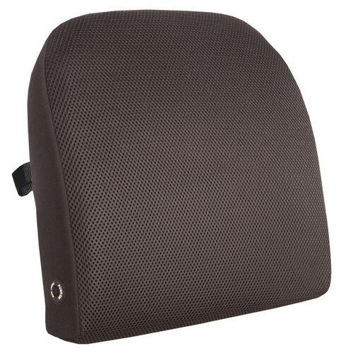 Memory Foam Massage Lumbar Cushion - Black