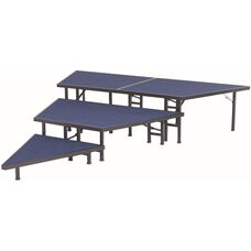 Pie Shaped Riser Sets with Carpeted Top and Built - In Coupling System - 36