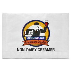 Genuine Joe Non -Dairy Creamer Packets - 800 per pack - White