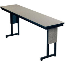 Laminate Top 3/4'' Thick Plywood Core Conference/Class Room Table with T - Legs and Matching Panel - 24''W x 96''D x 29''H