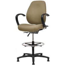 Contour II 400 Series Medium Back Swivel and Seat Height Stool
