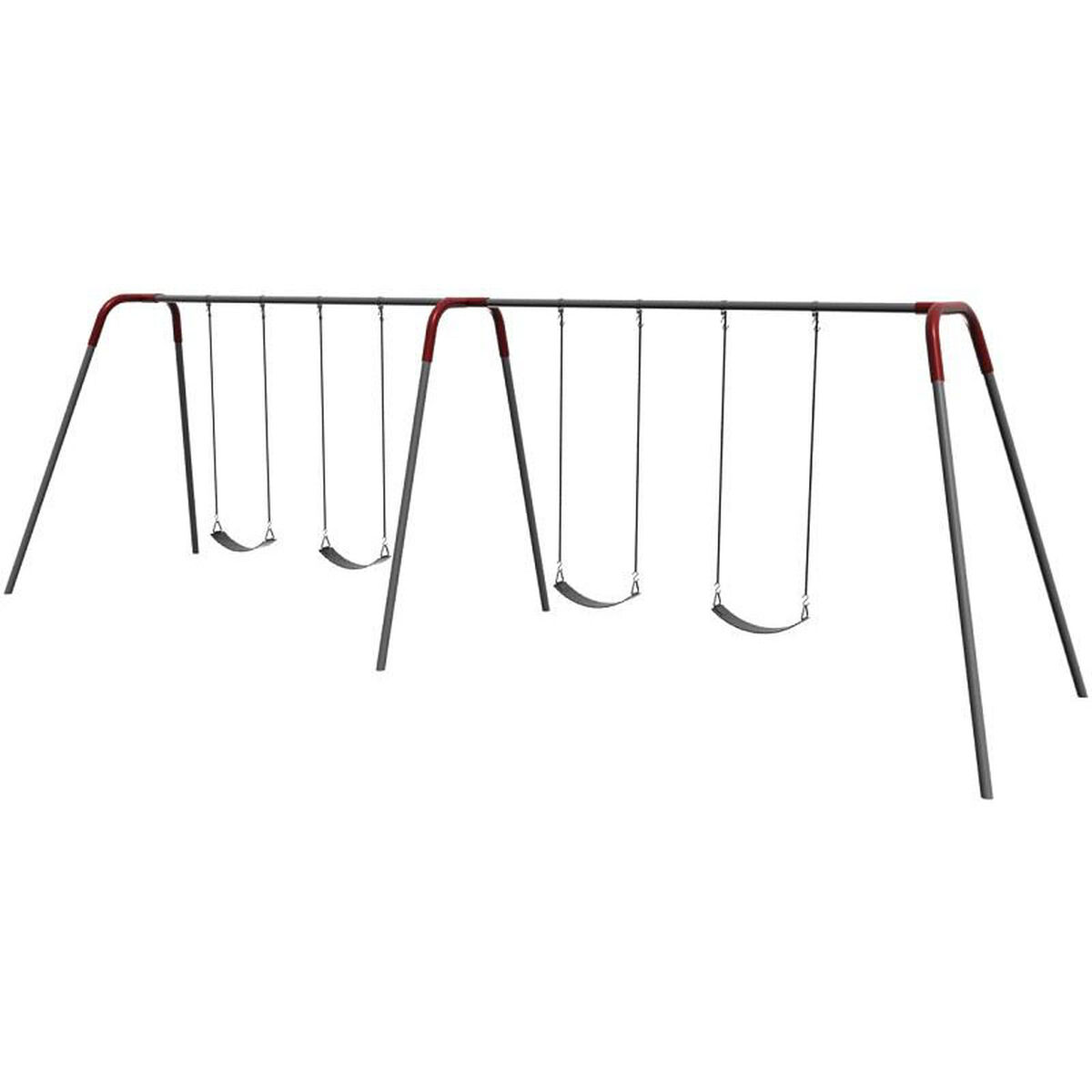 4 Seat Modern Bipod Swing Set 581-438 | ChurchChairs4Less.com