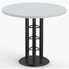 Success 5 Day Quick Ship 36'' Diameter Breakroom Table with Steel Triangular Base