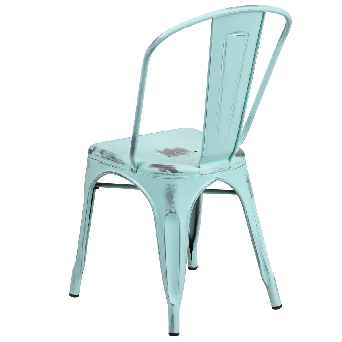 distressed metal furniture. Our Distressed Green-Blue Metal Indoor-Outdoor Stackable Chair Is On Sale  Now. Distressed Metal Furniture