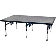Adjustable Height Stage with Carpeted Top and Built - In Coupling System - 36