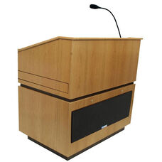 Coventry Wired 150 Watt Sound Multimedia Lectern - Oak Finish - 30