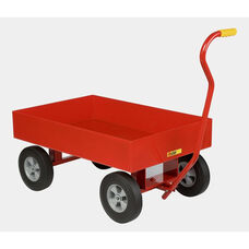 Red Powder Coated Wagon Steel Truck With 6