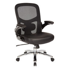 Big and Tall 69220C Mesh Back Office Chair with Leather Seat and 400 lb Weight Capacity