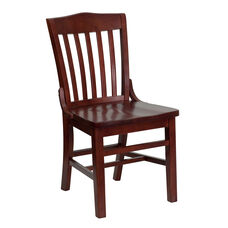 Mahogany Finished School House Back Wooden Restaurant Chair