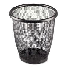 Safco® Onyx Round Mesh Wastebasket - Steel Mesh - 3qt - Black