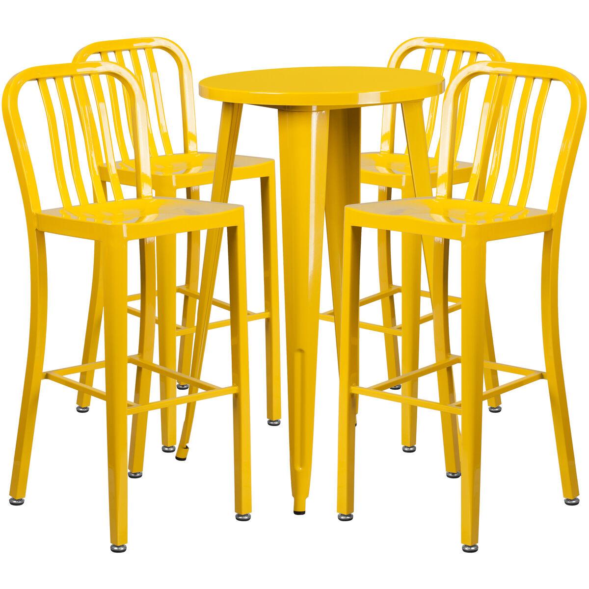 24rd Yellow Metal Bar Set Ch 51080bh 4 30vrt Yl Gg