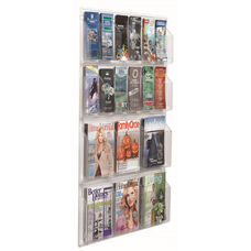 Clear-VU Combination Pamphlet and Magazine Display - 12 Pamphlets and 6 Magazines
