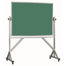 Reversible Free Standing Green Composition Chalkboard with Aluminum Frame