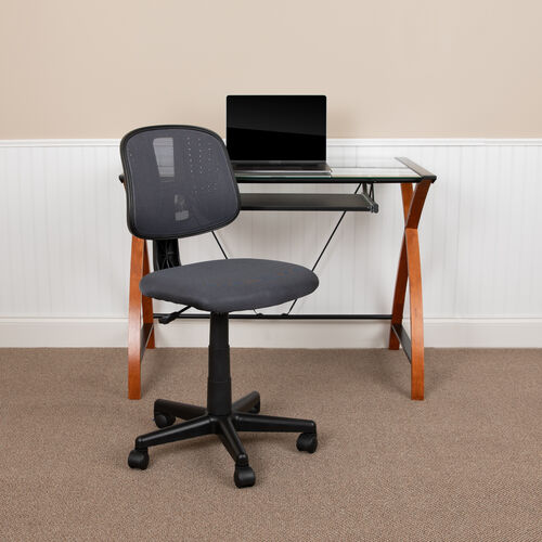 Our Basics Mid-Back Mesh Swivel Task Office Chair with Pivot Back, Gray, BIFMA Certified is on sale now.