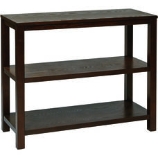 Ave Six Merge Foyer Table with Shelves and Solid Wood Legs - Espresso