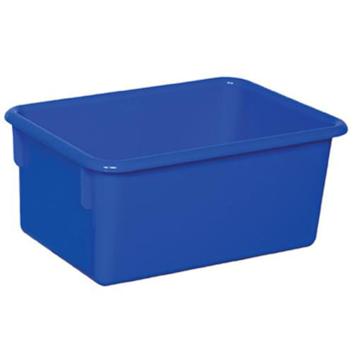 Our Solid Blue Plastic Cubby Trays - Assembled - 8