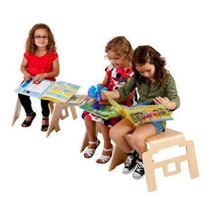 Multi-ply Birch Bentwood Space Saving Stackable Uni-Body Linking Stool