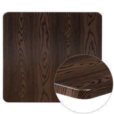 "30"" Square Rustic Wood Laminate Table Top"