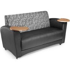 InterPlay Tablet Black Sofa - Bronze Finish