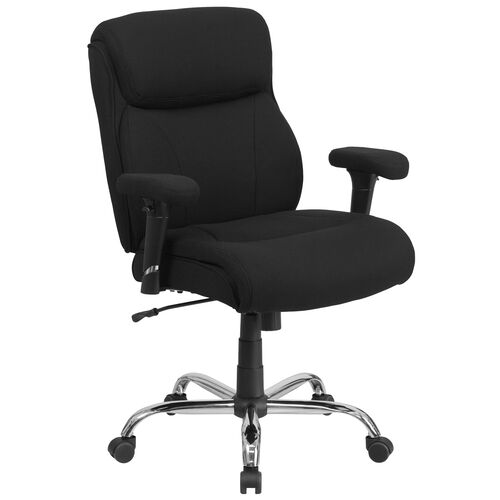 Our HERCULES Series Big & Tall 400 lb. Rated Swivel Task Chair with Clean Line Stitching and Adjustable Arms is on sale now.