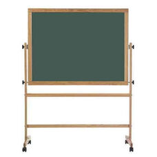 Double-Sided Steel-Rite Chalkboard with Wood Trim - 36