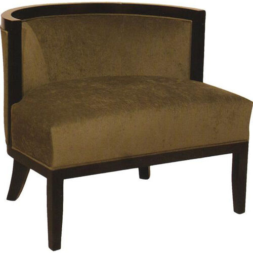 2738 Upholstered Lounge Chair w/ Tapered Wood Feet & Slant Arm - Grade 1