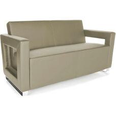 Distinct Soft Seating Sofa with Chrome Feet - Taupe