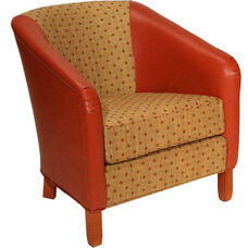 4325 Upholstered Lounge Chair w/ Removable Cushion - Grade 1