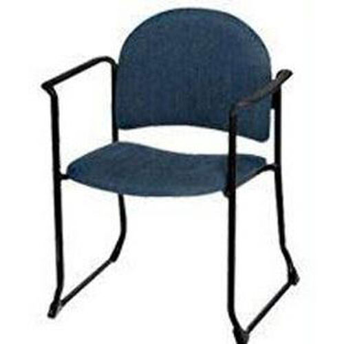 Endurance Contemporary Stack Chair with Bowed Sled Base and Arms - Crescent Back