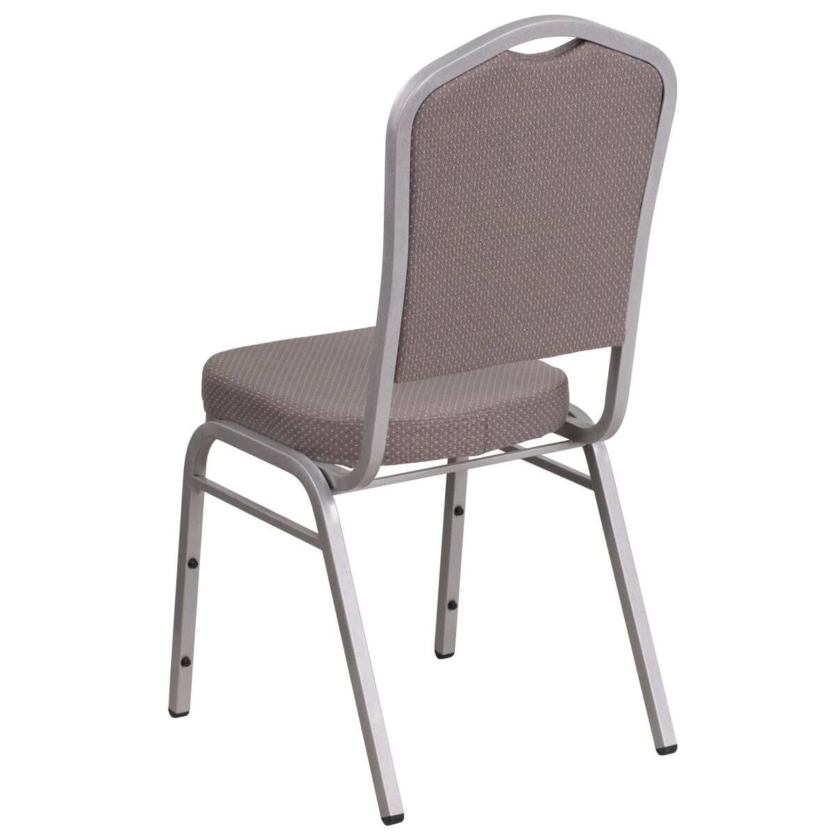 Hercules Series Crown Back Stacking Banquet Chair In Gray