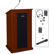 Chancellor Wireless 150 Watt Sound and Microphone Lectern - Mahogany Finish - 24