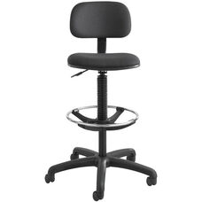 23'' H Extended Height Economy Drafting Stool - Black