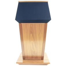 Patriot Plus Solid Hardwood Non-Sound Lectern with Drawer - Maple Finish - 31