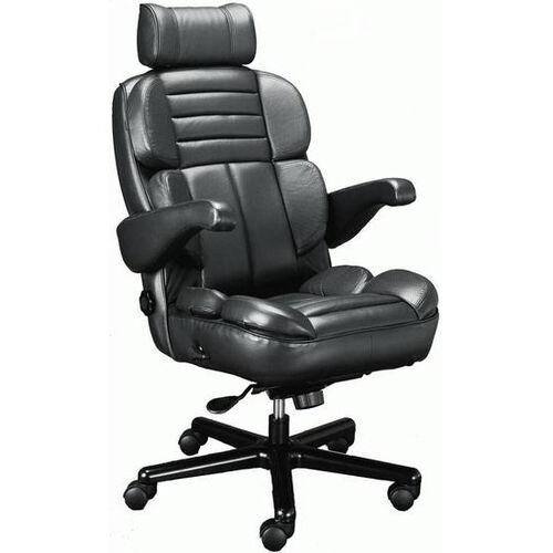 Our Galaxy Contoured Seat Office Chair with Padded Headrest - Leathermate is on sale now.