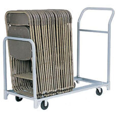 Folded or Stacked Chair Tote with Push Handle