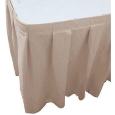 Wave 21 Foot Boxed Pleat Table Skirt with SnugTight™ Clips - Ivory