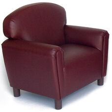 Just Like Home Preschool Size Overstuffed Vinyl Chair - Port Burgundy - 26